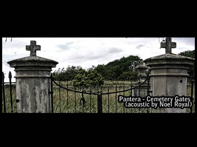 Cemetery gates cover acoustic