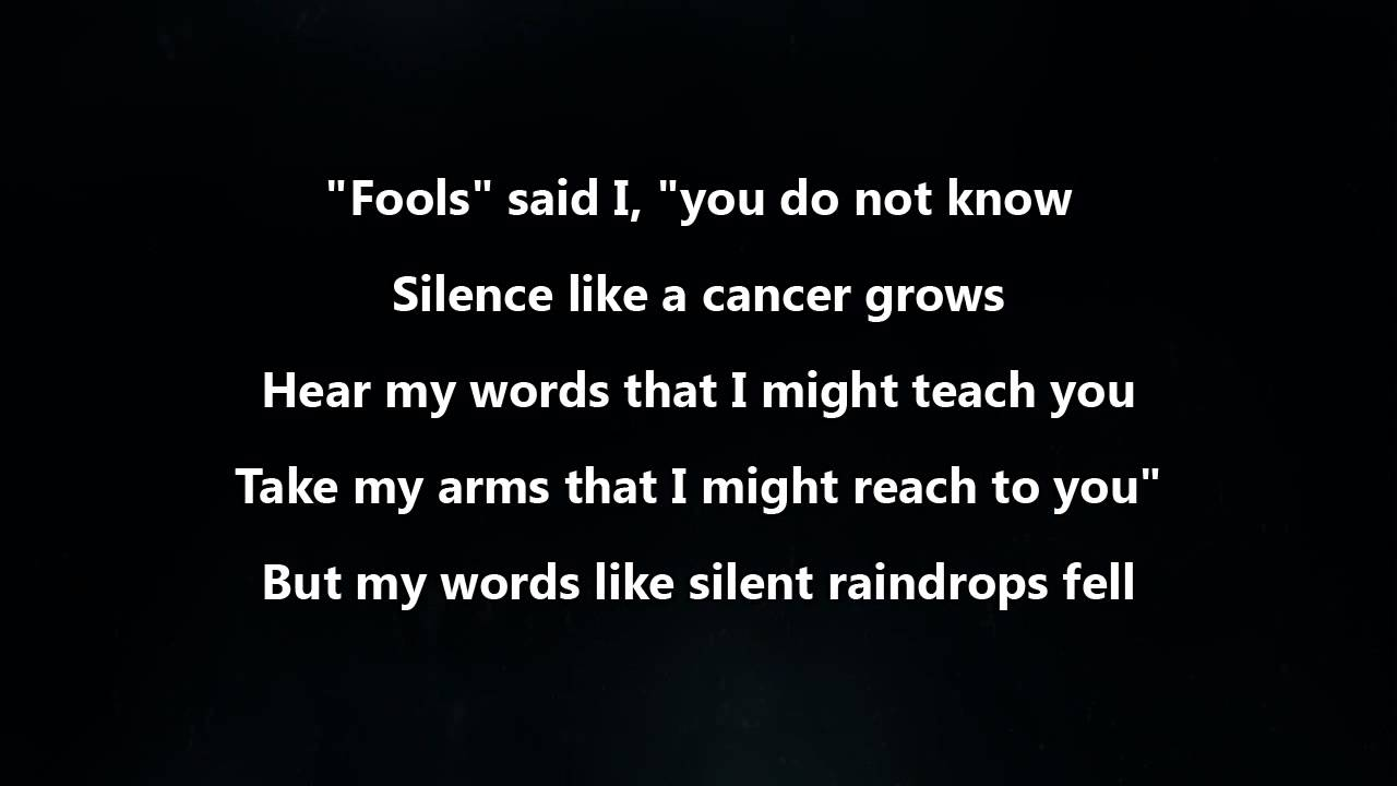 Sound of silence song youtube