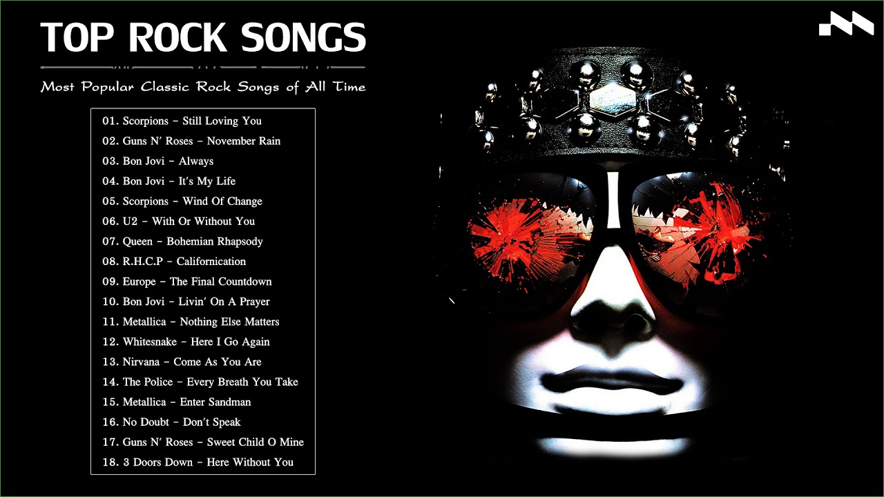 Most popular rock songs of all time